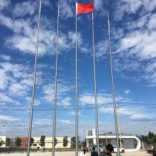 金聚进 淮安外国语学校锥形旗杆 22米不锈钢自动升降旗杆