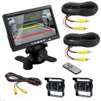 12-24V 7寸台式显示器+有线两个大巴摄像头