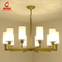 新中式吊灯客厅餐厅玻璃灯具简约铁艺卧室灯古典茶艺温馨灯具灯饰