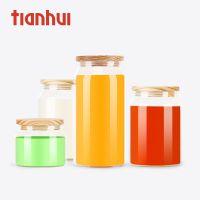 天汇透明虫草玻璃罐茶叶筒燕窝包装创意干果花茶通用木盖批发定制