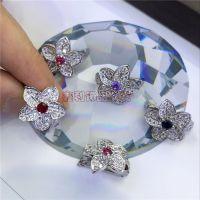 珍珠项链夹扣 双层项链扣子 固定夹层 搭扣 花朵款