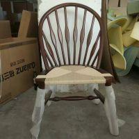 实木餐椅新中式家用孔雀椅咖啡餐厅酒店个性创意椅子