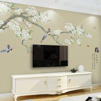 高清手绘无缝墙纸3D立体无纺布壁画客厅沙发电视背景墙壁纸批发
