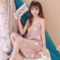 睡裙少女夏天吊带学生韩版清新性感中长款睡衣2018新款潮夏季女生