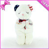 佛山厂家定制   创意毛绒玩具跪资求婚小熊 广告促销礼品熊