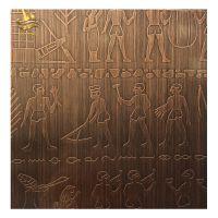 佛山金一帆红古铜不锈钢蚀刻板 红古铜电梯装饰板 酒店不锈钢电梯板工程