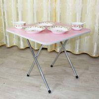 简易家用可折叠方桌便携手提小4人吃饭桌子简约小户型正方形餐桌