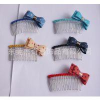新款创意 蝴蝶结发梳 儿童发夹批发 全国热销产品