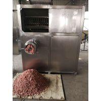 全自动大型动物油脂板破碎机 鱼饲料冻盘绞肉机厂家直销
