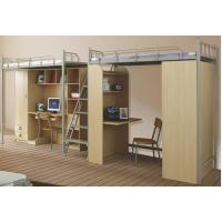 江西南昌学校学生宿舍公寓床上床下桌员工宿舍铁艺床连体步梯简约现代组合公寓床