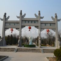 大型石雕工艺牌坊制作 仿古大理石牌坊牌楼