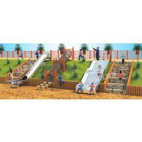 创意不锈钢滑梯乐园厂家定制 户外攀爬网无动力设备设计直销安装