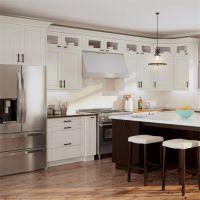 厂家直销定做厨房装修设计小户型简约开放式整体厨柜定制