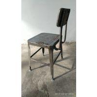 简约现代广州餐厅椅子铁达金属工业风格