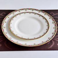 厂家直销骨瓷平盘子 陶瓷家用8寸花边盘 餐厅酒店用盘碗餐具批发