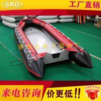 3.6米充气橡皮艇折叠加厚路亚钓鱼船冲锋舟皮划艇抗洪防汛救生艇