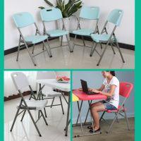 折叠椅家用餐椅会议便携塑料椅休闲椅培训办公电脑椅凳子靠背椅子