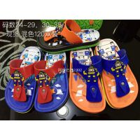 韩国Q版变形机器人战队车ROBOCAR POLI男童沙滩人字拖鞋凉鞋小码