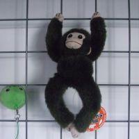 新款 毛绒玩具猩猩动物冰箱贴 毛绒冰箱贴公仔定做