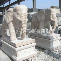 生产石雕招财大象雕塑一对 花岗岩门口摆放优质吉祥石象