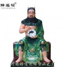 神农氏炎帝神像坐像人祖伏羲神像雕像人皇伏羲神像河南佛像豫莲花雕塑厂