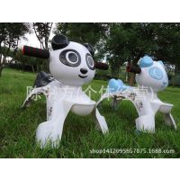 厂家直供新款儿童溜溜车熊猫四轮助步车车带音乐学步车