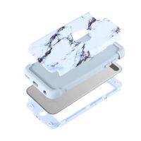 新款iPhone touch6双重手机保护套 水贴大理石x三合一超强防摔壳