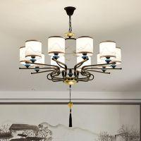 新中式吊灯客厅简约现代大气家用卧室中国风餐厅个性创意大厅灯具