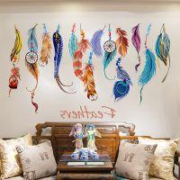 墙贴.卧室客厅宿舍背景墙贴画个性创意房间装饰品墙纸壁纸自粘羽