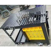 新品犀牛工作台耐磨机器人多孔三维柔性焊接平台及工装夹具铸铁平板