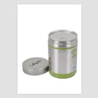 抹茶粉罐日本进口茶粉金属盒包装厂家螺纹盖焊接缩口铁盒子