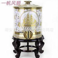 陶瓷工艺礼品蓄水缸罐冷水壶养生水缸带水龙头纯净饮水机水桶缸壶