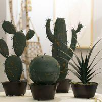 北欧复古仿真工艺品仿生植物金属盆栽仙人掌创意摆件淘宝货源批发