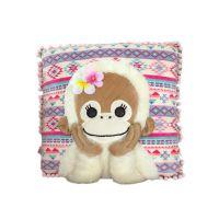 日本正版毛绒玩具定制babycoco猴子抱枕系列30CM舒适长毛绒