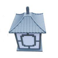 厂家批发复古方形庭院灯照明太阳能道具景观灯立柱路灯