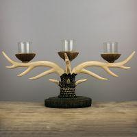 欧式美式复古蜡烛台酒店餐桌壁炉北欧摆件圣诞鹿角烛台家居装饰品