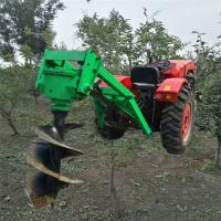 便捷式多功能地钻种植机 启航打桩植树机型号 果园种树挖坑机