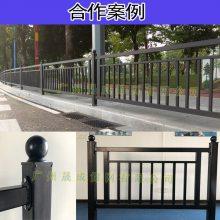 珠海京式护栏价格 道路中央隔离栅栏 广州马路防撞交通镀锌栏杆 黑色小蛮腰渔女款