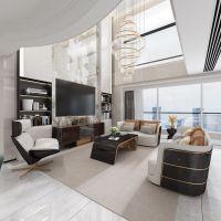 天古装饰设计师唐春万科御澜道跃层220平米现代轻奢风格设计意境图