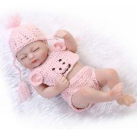 迷你仿真婴儿重生娃娃 软硅胶公仔 外贸货源厂家直供