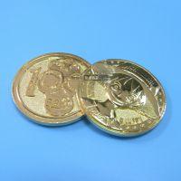 动漫周边 海贼王路飞卡通纪念币 电镀金色双面纪念币