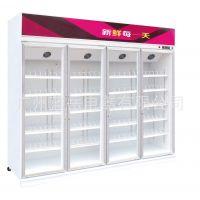 连锁便利店小便利店玻璃门展柜3门4门5门6门定做 超市饮料展示柜