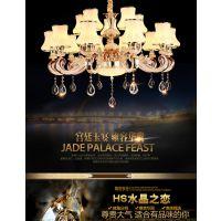 欧式客厅吊灯简约现代餐厅大厅简欧美式复古奢华大气铁艺创意灯具