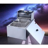 油炸锅商用电炸锅单缸电炸炉双缸炸薯条鸡排电用油条早餐机