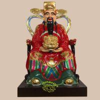 文财神毕干1.8米 文武财神像厂家批发订做 河南优质玻璃钢佛像 做生意求发财神像 树脂风水工艺品