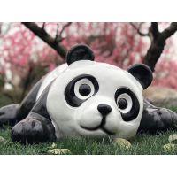 熊猫展 玻璃钢熊猫模型 卡通熊猫展览道具