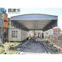 上海闵行区推拉雨棚仓库活动帐篷_布大型临时雨棚 帆布移动篷_免费设计方案