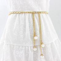 韩版流苏珍珠腰带腰链女细装饰连衣裙百搭加长时尚腰带简约小皮带