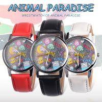 外贸热卖    动物时尚简约手表学生男生女生儿童石英手表