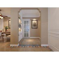 清新现代美式风格家居装修设计,电视墙和餐厅墙纸都好喜欢! ?